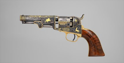 Gold-inlaid Colt Model 1849 Pocket Revolver