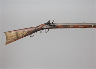Flintlock Rifle with Case and Bullet Mould Made for Colonel Jacob Bates