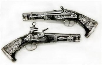 Pair of Miquelet Pistols
