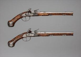 Pair of Flintlock Pistols Made for Christian Ernst