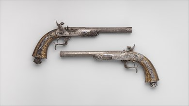 Two Percussion Exhibition Pistols