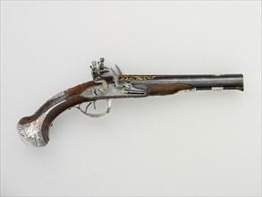 Pair of Double-Barreled Flintlock Pistols
