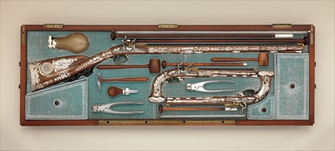 Cased Set of a Flintlock Rifle