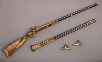 Double-Barreled Flintlock Shotgun with Exchangeable Percussion Locks and Barrels