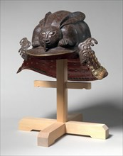Helmet in the Shape of a Crouching Rabbit