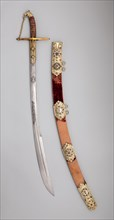 Saber with Scabbard and Carrying Belt