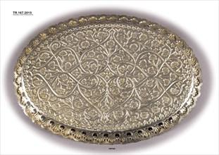 Silver Gilt Tray