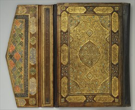 Qur'an Bookbinding Inset with Turquoise