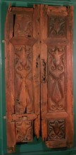 Pair of Doors Carved in the 'Beveled Style'