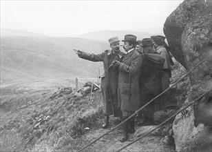 Maurice Barrès sur le front en 1915