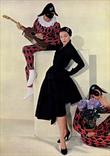 Collection Hiver 1950 du couturier Christian Dior