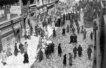 Journée de grève générale en Espagne, le 16 avril 1936.