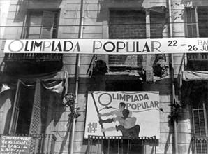 Olympiades Populaires de Barcelone, en juillet 1936