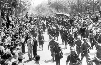 Guerre civile espagnole, août 1936