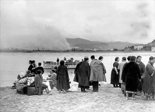 Population fuyant la Guerre d'Espagne, 1936
