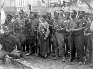 Occupation de la ville d'Irun par les insurgés, en septembre 1936