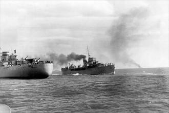 Revue navale dans les eaux de Tarragone, 1939