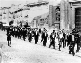 Paysans espagnols de l'armée des Républicains, 1936