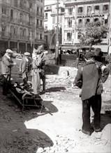 La ville de Tolède pendant la Guerre d'Espagne en octobre 1936