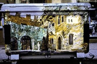 Poubelle peinte à Vérone
