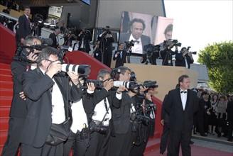 Photographes en haut des marches du Festival de Cannes