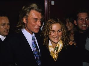 Johnny Hallyday et sa femme Laeticia