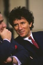 Serge Moati et Jack Lang, 1981