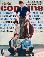 """Les Rolling Stones en couverture de """"Salut les Copains"""""""