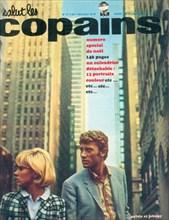 """Johnny Hallyday et Sylvie Vartan en couverture de """"Salut les Copains"""""""