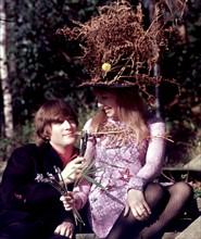 John Lennon et sa femme Cynthia