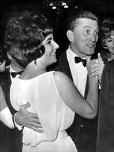 Kirk Douglas et Elizabeth Taylor à Rome, 1961
