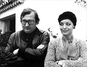 Claude Chabrol et Romy Schneider, dans les années 70