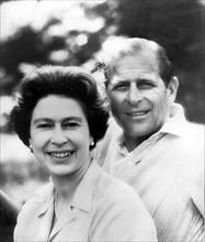 Portrait de la reine Elisabeth II et du prince Philip