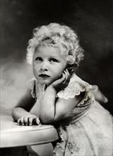 La princesse Elisabeth à l'âge de 3 ans