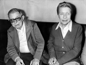 Jean-Paul SARTRE et Simone de BEAUVOIR, 1978