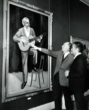 Georges Brassens et Yves Brayer