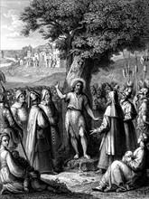 Passage de la Bible : prédication de Saint Jean-Baptiste