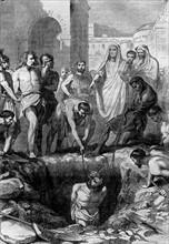 Enterrement vivant de Gaulois