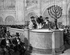 Inauguration de la nouvelle synagogue - Rue de la Victoire à Paris