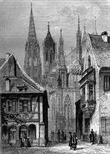 Cathédrale de Fribourg-en-Brisgau - 19e siècle