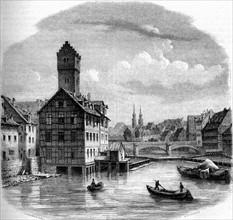 Vue de Nuremberg - Allemagne. 19e siècle