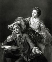 David Garrick et Eva Marie Veigel