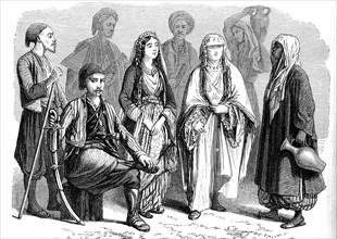 Habitants d'Anatolie en costume traditionnel - 19e siècle
