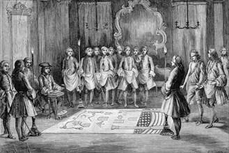Les Francs maçons en 1740