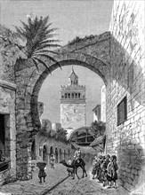 Une porte de Tunis en 1865