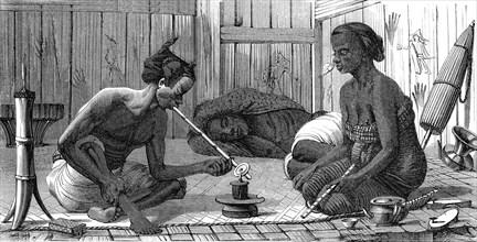 Fumeurs d'opium, Malaisie