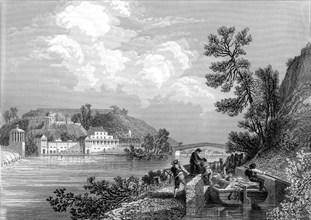 Philadelphie, le château d'eau en 1866