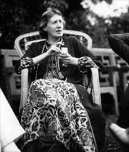 VIRGINIA WOOLF (1882-1941) English novelist at Garsington Manor,Oxford, in 1926