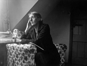 VIRGINIA WOOLF (1882-1941) English novelist about 1928