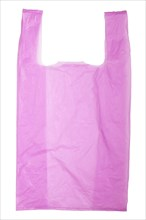 Violet Plastic bag isolated on white background